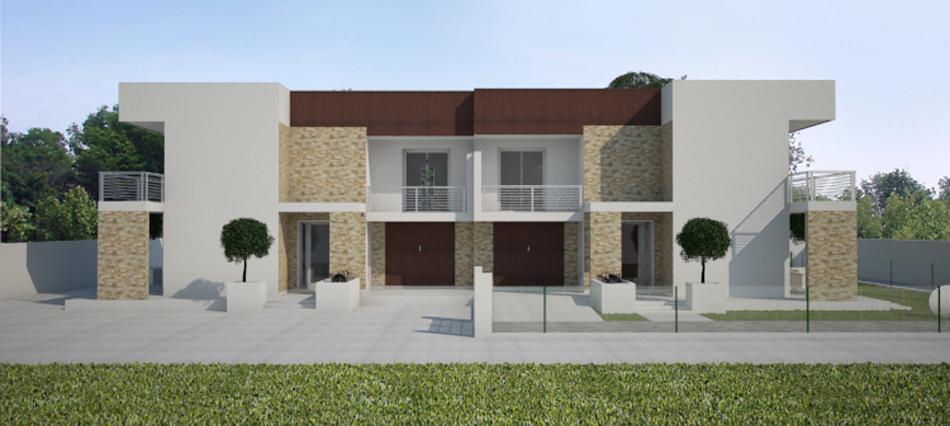 Villetta bifamiliare moderna san don di piave for Progetti ville bifamiliari moderne
